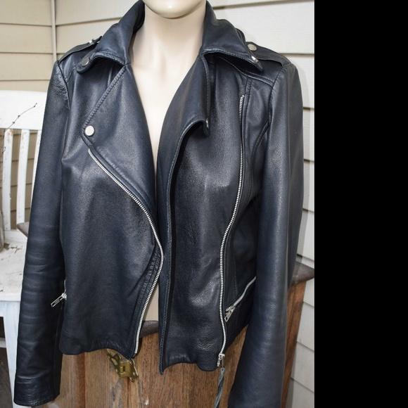 be2305b91391 Mango Jackets & Coats | Real Leather Jacket Biker Jacket | Poshmark